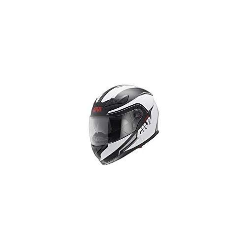 Givi H504FSTBW61 Hps 50.4B Integral Casco con Visera, Color Negro/Blanco, Talla 61/XL, Mujer, Extra-Large