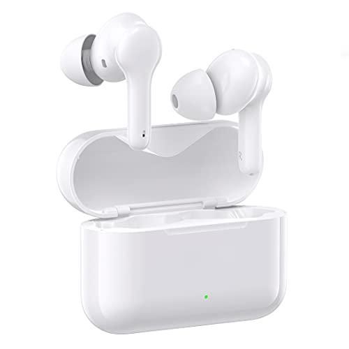 Auriculares inalámbricos, Auriculares Bluetooth 5.0 en la Oreja Auriculares estéreo inalámbricos Verdaderos, Tiempo de reproducción de 30 Horas con Estuche de Carga