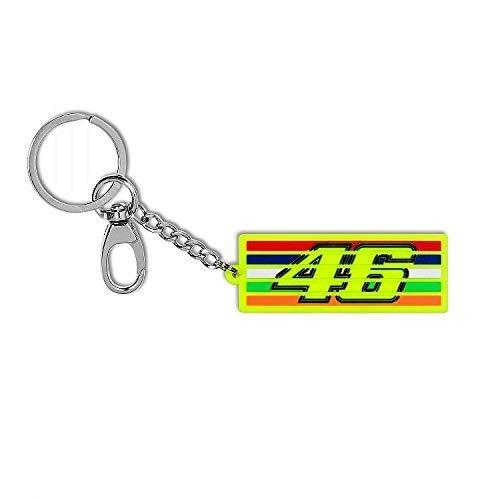 Valentino Rossi Vr46 Classic-Accessories, llaveros Unisex Adulto, Multicolor, 7 x 2, 5 cm/RNUM
