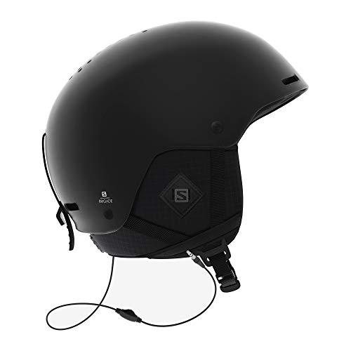 SALOMON Brigade Casco de esquí y Snowboard para Hombre, con Sistema de Audio, Carcasa ABS, Tecnología Smart, Circunferencia, Negro (All Black), M (56-59 cm)
