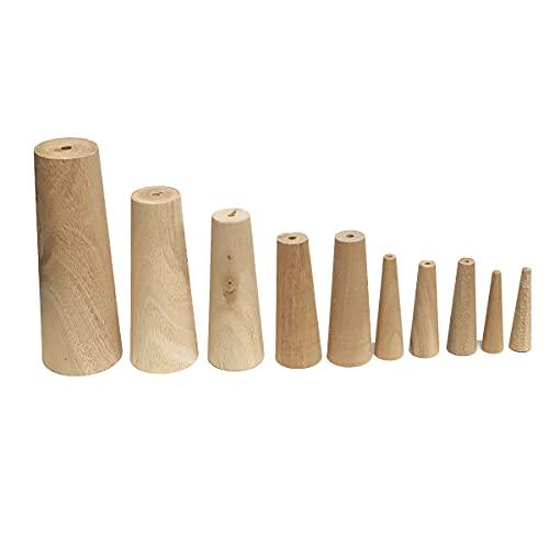 Tapones cónicos cónicos de madera suave para barco marino, de 1/5 a 1 3/5 pulgadas, 7 tamaños diferentes, juego de 10 unidades