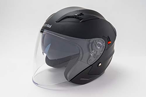 EXSENTIAL Casco Jet EX 627 doble visera Sun Visor negro mate Helmet Helme Casque Capacete Scooter Moto S
