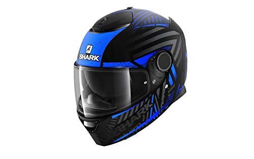 Shark Casco de moto SPARTAN 1.2 KOBRAK Mat KBB, Negro/Azul, L