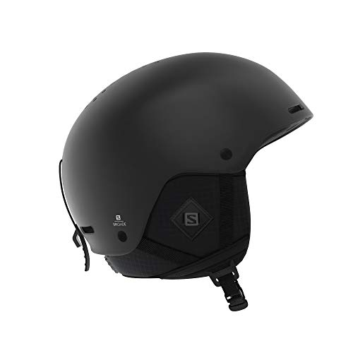 Salomon Brigade+ Casco de esquí y Snowboard para Hombre, Carcasa ABS, Tecnología Smart, Circunferencia, Negro (All Black), M (56-59 cm)