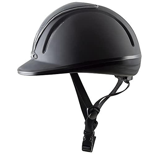 PFIFF 744798 Casco de equitación, Mujer, Negro/Gris, 53-56 cm