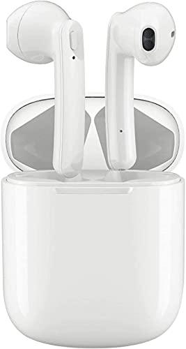 Auriculares Bluetooth 5.0 Auriculares Inalambricos Cascos Bluetooth Headphone Deportivos con Mic y Cancelación de Ruido Caja de Carga - compatibles con TV, Smartphone, Tablets