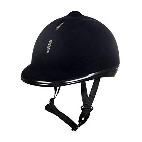 New Flock HKM 8162, Casco de equitación, Unisex Adultos, color Negro, L (58-61cm)