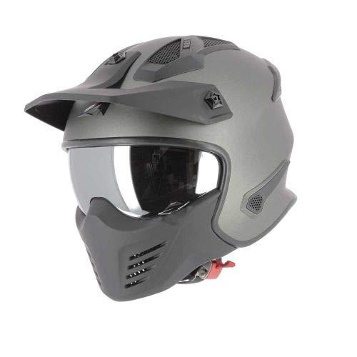 Astone Helmets - Elektron - Casque de moto jet - Casque jet 4 en 1 - Casque jet homologué - Coque en polycarbonate - Matt Gun Metal M