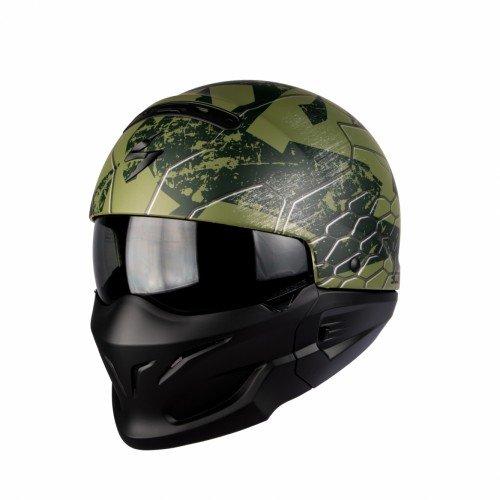Scorpion Casco Moto exo-combat ratnik, Matt Green, XL