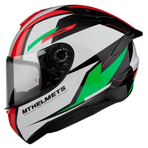 Casco Moto Integral homologado MT Targo Pro Modelo Sound C6 Verde Perlado Brillo Dot Unisex Talla L