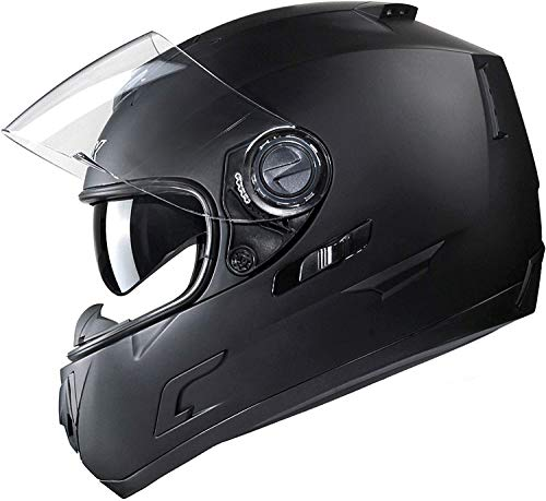 GLX Full Face calle bicicleta casco de moto de doble visera con claras y oscuras escudos