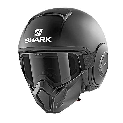 SHARK Street Drak Casco de Moto, Hombre, Nero Opaco, M