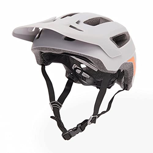 BELL Nomad Casco de Bicicleta de montaña, Unisex niños, Gris Mate y Naranja, Talla única