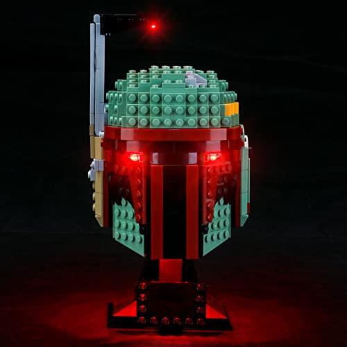 LIGHTAILING Juego de luces para Star Wars Boba Fett-Helmet Building Blocks Model – Kit de luz LED compatible con Lego 75277 (no incluye el modelo)