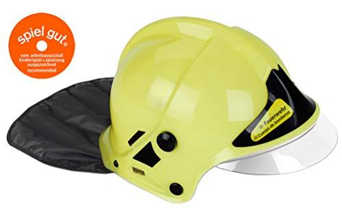 Theo Klein-8903 Firefighter henry casco de bomberos, neón, juguete, color, talla única (8903)