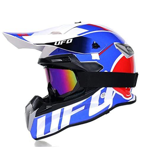 ZHHTT Cascos de Motocross, Casco ECE Dot ATV MX Amazon para Hombres y Mujeres, Utilizado para Off-Road/Racing/Mountain Bike/competición Profesional, 54-61cm (Color : Helmet 7, Size : L)
