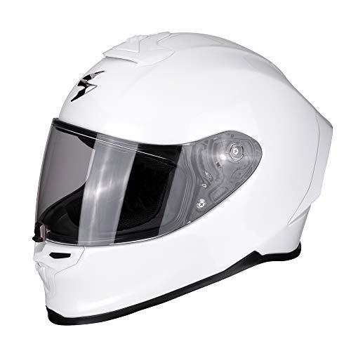 Scorpion Casco de moto EXO-R1 AIR Pearl White, Blanco, M
