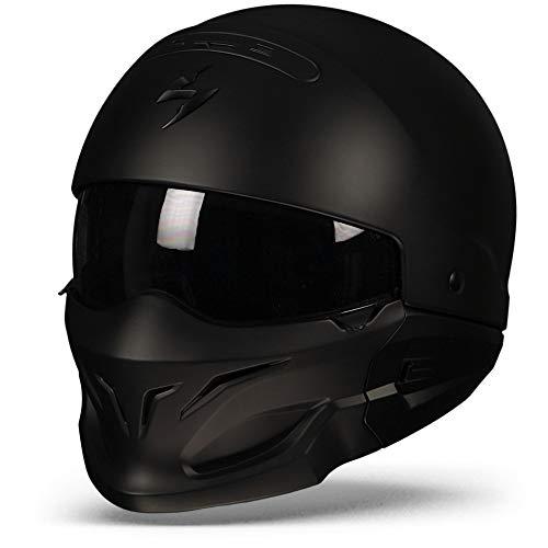 SCORPION Casco Moto exo-combat, Matt black, negro, M