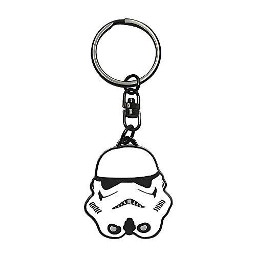 Llavero de metal con casco de Stormtrooper de Star Wars