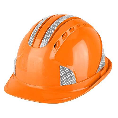 Casco de seguridad Trabajador Emplazamiento de la obra Tapa protectora Ventilar Casco ABS(naranja)