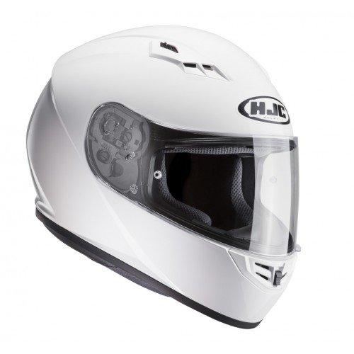 HJC 10102807 Casco de Moto, White, Talla S