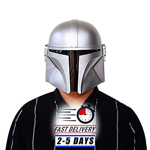 Casco de The Mandalorian para cosplay o disfraz, máscara de PVC moldeada por inyección