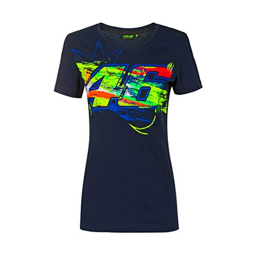 Valentino Rossi Camiseta Winter Test,XL,Azul,Mujer