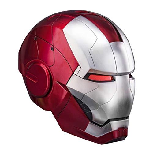 nihiug 1 / 1MK5 de acción en Vivo de Control de Voz Casco de la máscara de Iron Man/Apertura Manual/Cierre/Modelo portátil de Control Remoto Incluye Plataforma, Helmet-OneSize