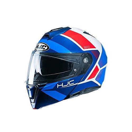 HJC NC Casco per Moto, Hombre, Azul/Rojo, M