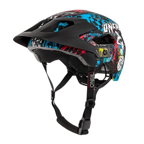 O'NEAL | Casco para Bicicleta de montaña | All-Mountain | Aperturas de ventilación para refrigeración, Norma de Seguridad EN1078 | Casco Defender Wild | Adultos | Multi | Talla L/XL