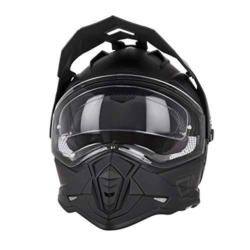 O'NEAL | Casco de Motocicleta | Moto Enduro | Aberturas de ventilación para el máximo Flujo de Aire y refrigeración, Visera Solar integrada | Casco Sierra II Plano | Adultos | Negro | Talla XL