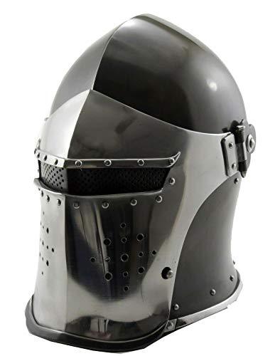 antiquegifts2019 Casco medieval Barbuta caballeros templarios cruzados armadura casco medieval Sca regalo