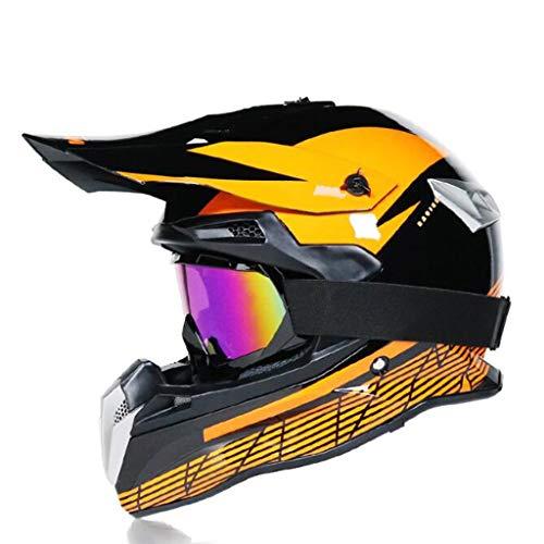 ZHHTT Cascos de Motocross, Casco ECE Dot ATV MX Amazon para Hombres y Mujeres, Utilizado para Off-Road/Racing/Mountain Bike/competición Profesional, 54-61cm (Color : Helmet 2, Size : S)