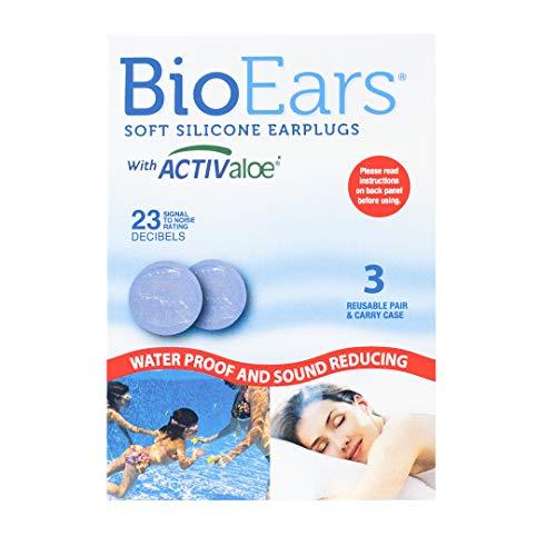 Bio Ears-Tapones para los oídos de silicona suave,3pares