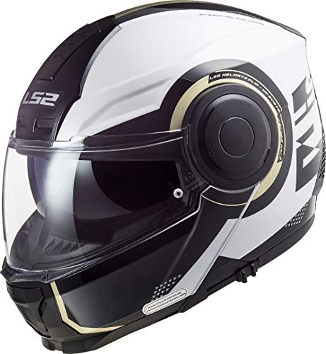 LS2, Casco modular de moto, Scope Arch, M, Blanco titanio