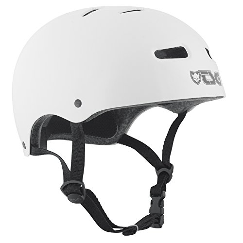 TSG Helm Skate BMX Injected Colors Solid Color, Unisex, Blanco, S/M