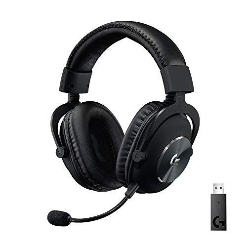 Logitech G PRO X Auriculares Inalámbricos LIGHTSPEED para Gaming, Micrófono Blue VO!CE, Controladores PRO-G de 50 mm, DTS: Sonido Envolvente X 2.0, Espuma Viscoelástica, Batería de 20 Horas - Negro