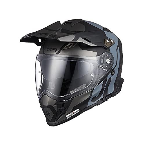 Origine Casco de Motocross Todo Terreno Casco Integral ECE 22-05 Aprobado para Protectores de Casco Para Downhill MTB Quad Enduro ATV (Tour Titanium Black,L)