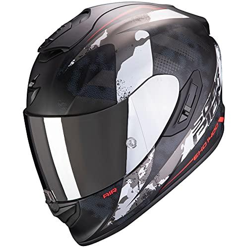 SCORPION 14-286-24 Casco de moto integral EXO-1400 Air SYLEX mate negro rojo SZ S