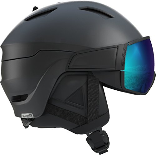 SALOMON Driver s Casco de esquí y Snowboard con Visor para Hombre, Solution OTG, Compatibles con Gafas de Vista, Interior de Espuma EPS 4D, Circunferencia: 59-62 cm, Negro, Talla L