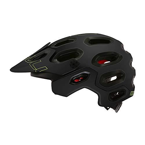 Cairbull Supercross Super Lightweight Bike Helmets 54-58cm Bicycle Helmet Casco de Ciclismo de montaña Black Orange (Negro Mate, S/M)