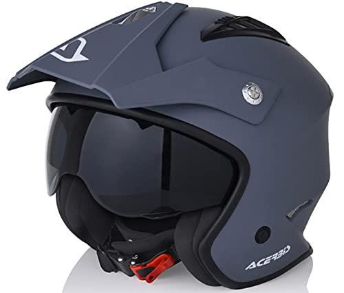Acerbis casco Jet aire Gris, m (57/58)