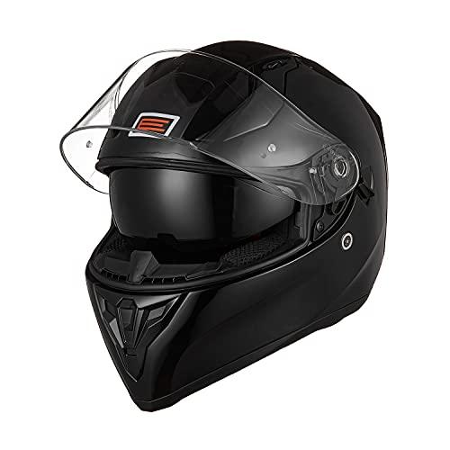 ORIGINE Casco Integral de Moto ECE Homologado con Visera (Solid Matt Black, M)
