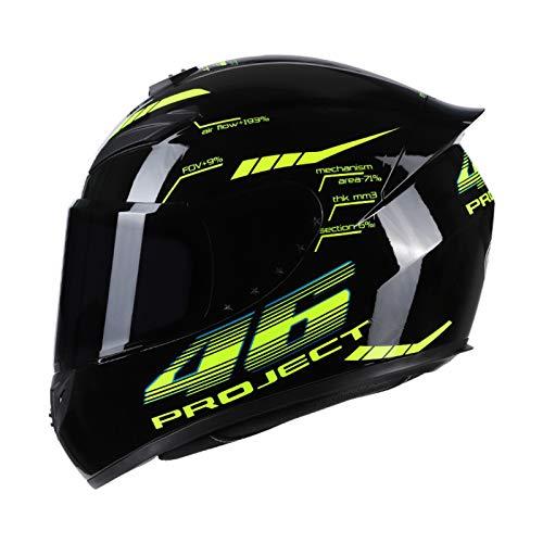 VISLONE Casco de Motocicleta Casco de Moto Integral Disponible en Cuatro Estaciones, M(57-58cm)
