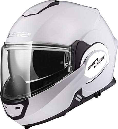 LS2, casco de moto modular VALIANT blanco, M