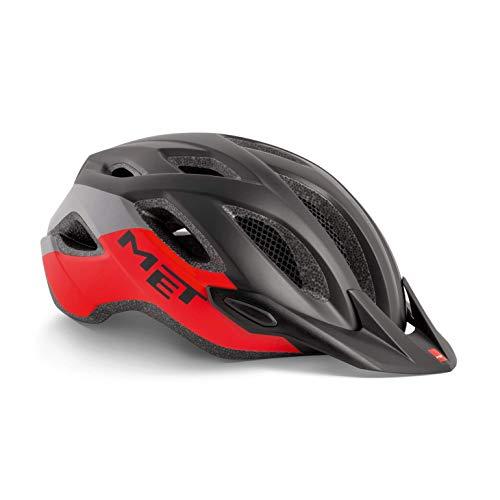 Met Crossover XL(60-64) Casco Montañismo, Alpinismo y Trekking, Adultos Unisex, Multicolor (Negro Rojo)