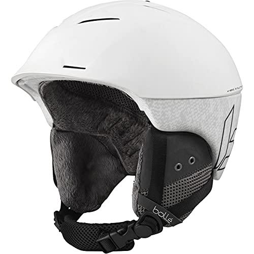 Bollé Synergy Cascos de esquí, Adultos Unisex, White Matte, 54-58 cm