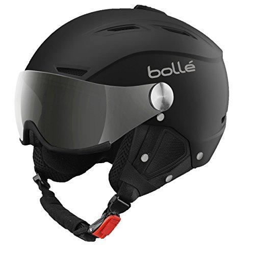 bollé Backline Visor Cascos de Esquí, Unisex Adulto, Negro/Plateado (Soft Black/Silver), 56-58 CM