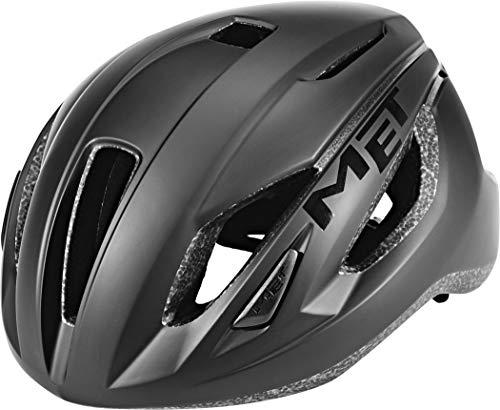 MET Strale Black 2020 - Casco de ciclismo, continuidad, color negro, tamaño M | 56-58cm