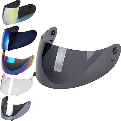 Visera AGV compatible no original, AGV K3, K4, K4 EVO. Transparente, espejo dorado, ahumado, azul talla única Fume 50%